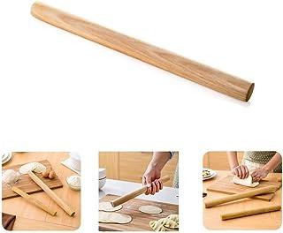 Milopon Rouleau à pâtisserie anti-adhésif réglable en bois de bambou pour fondant gâteau (15 cm x 2,6 cm)