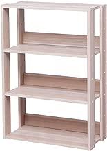 アイリスオーヤマ オープンラック 木製 4段 幅60×奥行29.2×高さ87.9cm ナチュラル OWR-600