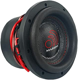 Car Subwoofer by Massive Audio HippoXL64 - SPL Extreme Bass Woofer - 6 Inch Car Audio 600 Watt HippoXL Series Competition Subwoofer, Dual 4 Ohm, 2 Inch Voice Coil. Sold Individually