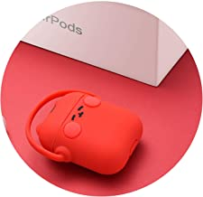 Cute Style Soft Silicone Headphone AirPods Case for Apple Wireless Bluetooth Headset TWS airpods Charging Case Rock,red