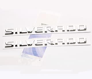 Yoaoo 2x OEM Chrome Silverado Nameplate Letter Emblems Badge for 1500 2500Hd 3500Hd Origianl Silverado