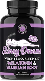 Angry Supplements Skinny Dreams, Night Time Sleep Aid for All-Natural Weight Loss, Restful Sleep w/Melatonin, Burn Fat Ove...