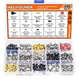 HELIFOUNER 450 Pieces Computer Standoffs Spacer Screws Assortment Kit for Hard Drive Computer Case Motherboard Fan Power Graphics