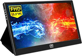 $169 » 13.3 Inch Portable Monitor, Gaming Monitor IPS 1080P 16:9 Display Screen with HDMI USB C Interface Dual Speakers for Laptop Mac Cellphone PS3 PS4 Xbox Raspberry Pi Windows 10 Mini PC
