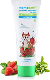 MAMAEARTH 100% Natural Berry Blast Toothpaste For Kids, 50 gm