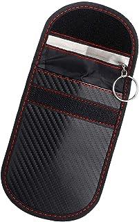 ShangSky Keyless go Schutz Autoschlüssel,Autoschlüssel Tasche,RFID Funkschlüssel Abschirmung Schlüsseltasche Schlüsseletui,Kohlefaser Strahlenschutz Abschirmung Blocking