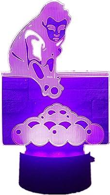 Ybhfc Jugar Billar Billar Snooker Lámpara De Mesa 3D 7 Colores ...