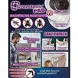 Screentastic Pro Magnetisches Moskitonetz für Fenster (Insektenschutz, Fliegengitter Mückengitter) Netzgewebe Größe: 150 x 180 - Original aus TV-Werbung