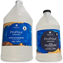 Pro Marine Supplies ProPour Epoxy Resin – Crystal Clear Epoxy Resin – Deep Pour Epoxy Resin for Castings and Artworks – Liquid Glass Epoxy for Large Castings and Coatings – Wet Gloss Finish…