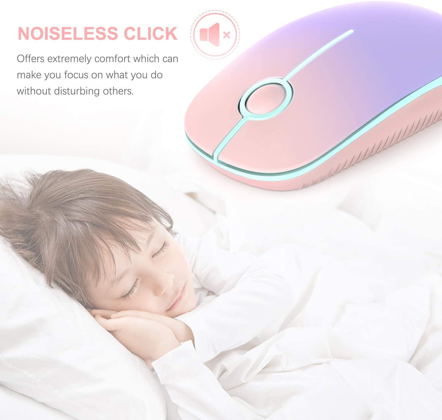PC Computer Portable Mobile Optical Mice for Notebook Blue MacBook MS001 Laptop Less Noise Jelly Comb 2.4G Slim Wireless Mouse with Nano Receiver