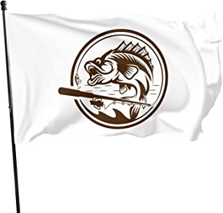 PEARL ANTINO Fishing 3x5 Flag Strong Long and Durable Yard Holiday and Seasonal Outdoor Home Garden Decoration