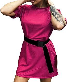QYV Le Donne Solide Casuali Si Vestono tra Cui Abiti per Il Tempo Libero di Moda Sportiva Allentata casa Tinta Unita