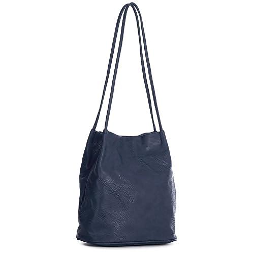 ac7d40254d9a Big Handbag Shop Womans Fashion Designer Medium Size Plain Soft Vegan  Leather Hobo Bucket Tote Shoulder