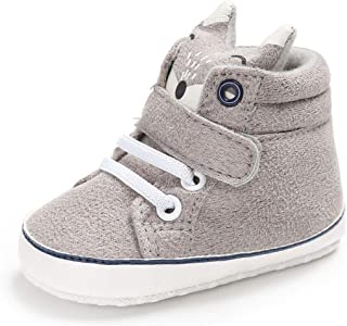 Iuhan Cotton Baby Girl Boys Fox Hight Cut Shoes Anti-Slip Infant Soft Sole Sneaker