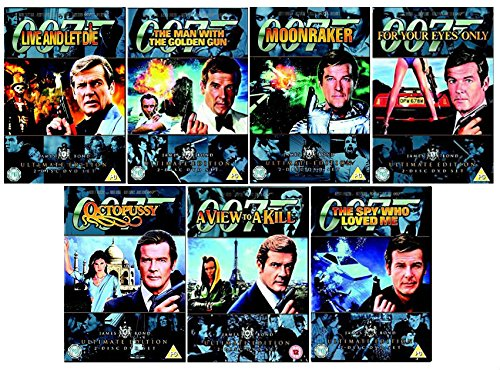 Roger Moore James Bond 007 Ultimate Edi. 2 Disc Set Collection: Live and Let Die, The Man with the Golden Gun, The Spy Who Love