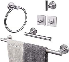 TocTen 6-Piece Set Bathroom Hardware Set-304 Stainless Steel, Towel Bar Set Include Lengthen 24'' Towel Bar+Towel Ring+Toi...