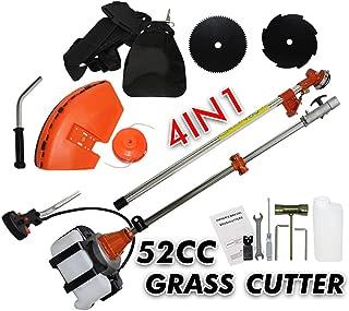 FFMT Gasoline Grass Trimmer,String Trimmer,4 in 1 Brush Cutter,Multi 52CC 2 Strokes Lawn Mower