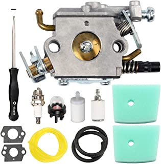 LIYYOO C1Q-EL24 Carburetor with Air Filter Fuel Filter Kit for Husqvarna 123C 123L 123LD 223L 223R 322C 322R 323C 323L 325C 325CX 325L 325LX 326C 326L 326LX Trimmer Brushcutter Pole Saw Edger