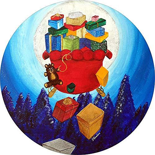 Tire Cover Central Santa Sleigh vliegen met geschenken vallen uit Reserveband Cover voor Camper, Rv, Scamp, Trailer