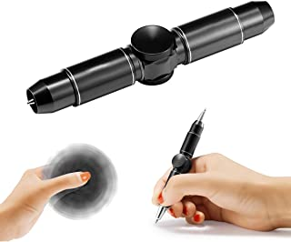 Anstar Fidget Hand Spinning Pen, Spinner Toys, Ballpoint Pen Gift Boxes 100% Handcrafted for Business Adults & Kids, ADHD& Relieves Stress and Increase Focus (Glory Black)
