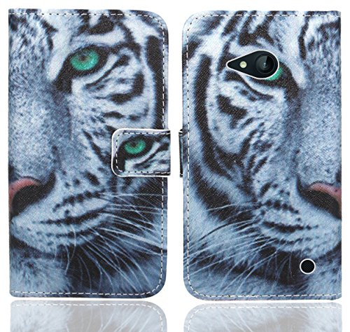 FoneExpert® Nokia Lumia 735 730 Handy Tasche, Wallet Hülle Flip Cover Hüllen Etui Ledertasche Lederhülle Premium Schutzhülle für Nokia Lumia 735 730 (Pattern 6)