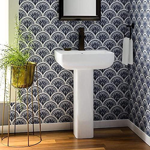Magnus Home Products Ladson Vitreous China Pedestal Bathroom Sink, Single-Hole, 20 1/2