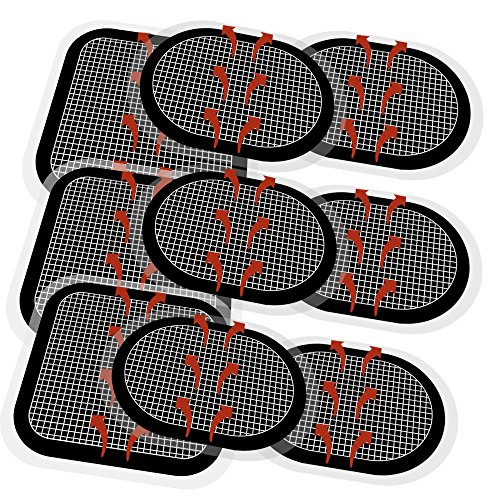 TAIKUU 9 PCS Electrodes Pads Replacement Unit Set Pack for All Abdominal Belts