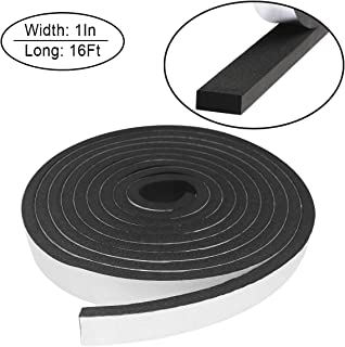 Foam Insulation Tape self Adhesive,Weather Stripping for Doors and Windows,Sound Proof soundproofing Door Seal,Weatherstrip,Cooling, Air Conditioning Seal Strip (1In x 3/8In x 16Ft, Black)
