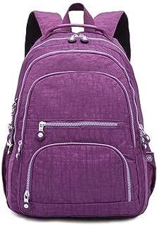School Backpack For Teenage Girl Women Backpacks Nylon Waterproof Backpack,Purple,27Cmx13Cmx37Cm 1368