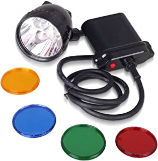 Kohree 80000Lux Cree XML U2 LED Coyote Hunting Light K111Lm Mining Headlamp Lighting 20Hours with 4 Optical Filters, 10W, 11000 mAh