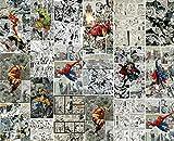 MGQSS 3D tapete Selbstklebend Wandbild Comic Superheld Plakat Hintergrund Foto Art Zuhause Dekoration Kind Cartoon Zimmer Junge Mädchen Schlafzimmer Film Zeichen Büro Club (B) 250 × (H)175cm