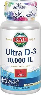 KAL Ultra D-3 10000 IU ActivMelt 10000iu 90ct