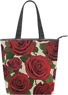 MALPLENA Schultertasche für Damen, rote Rosen