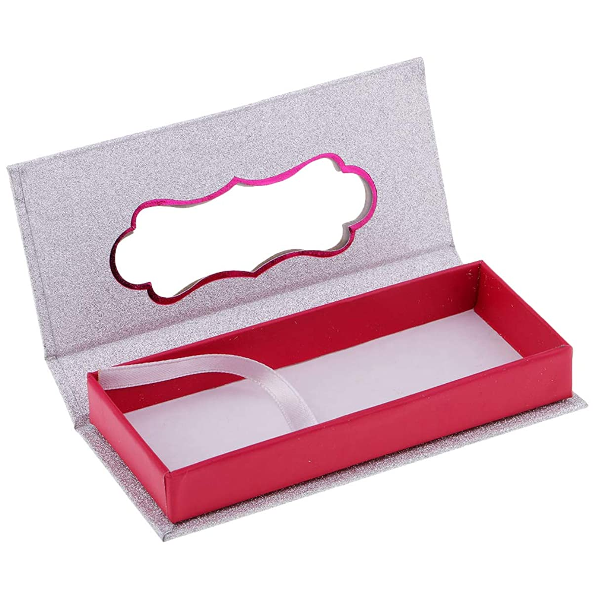 残基どうしたの直接まつ毛ケース 付けまつげ コンテナ 収納ケース ラッシュ 磁気ボックス 3色選べ - 白