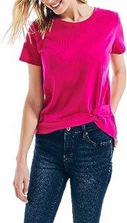 Nautica Women's Nautica Women's Classic Fit Side Knot Top T-Shirt