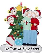 YTXTT Enfeite de Natal DIY 2020, pingente de Natal com nome personalizado para árvore de Natal, decoração de casa