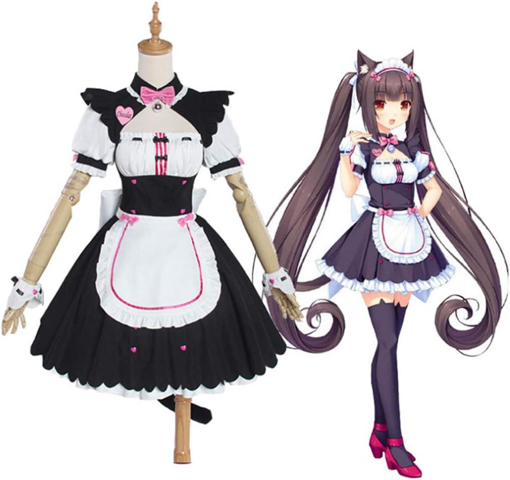 Teakpeak Anime Maid Cosplay, Nekopara Chocola Vanilla Cosplay Costume Cat  Girl Maid Dress Uniform Maid Uniform Cosplay - Pink M