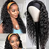 GIANNAY Curly Headband Wig for Black Women Loose Wave Wet and Wavy Synthetic Headband Wigs 24 Inch