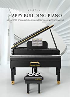 XQ XQGQ-01 Happy Building Playable Grand Piano Music Model Kit Building Block Bricks APP Bluetooth Control Toys for Childr...