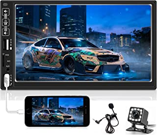 Hikity 7 Inch Digital Car Stereo Touchscreen Car Audio Receiver Bluetooth FM Radio Mirror Link Remote Control, Dual USB/AU... photo