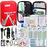 Monoki First Aid Kit Survival Kit, 241Pcs Upgraded Outdoor Emergency...