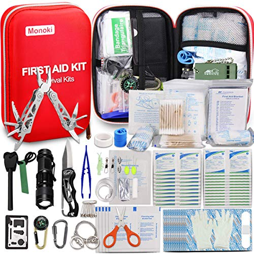 Monoki First Aid Kit Survival Kit, …
