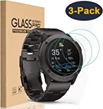 HEYUS [3 Pack] for Garmin Fenix 6x/6x Pro Screen Protector, 9H Hardness Scratch Resistant Tempered Glass Screen Protector Protective Film Cover for Garmin Fenix 6x/6x Pro