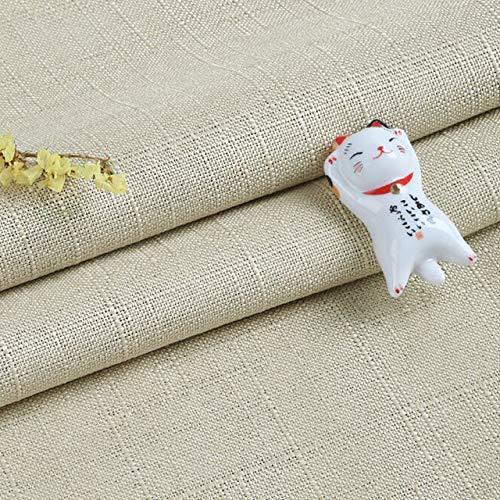 Lino dikke katoenen linnen doek gekleurde fluwelen poeder vice puur linnen tafel 11colors gordijn DIY,rijst geel,300cmX145cm