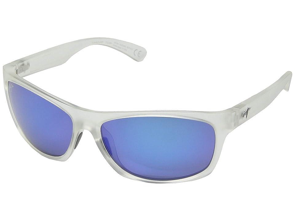 Maui Jim Tumbleland (Matte Crystal/Blue Hawaii) Sport Sunglasses