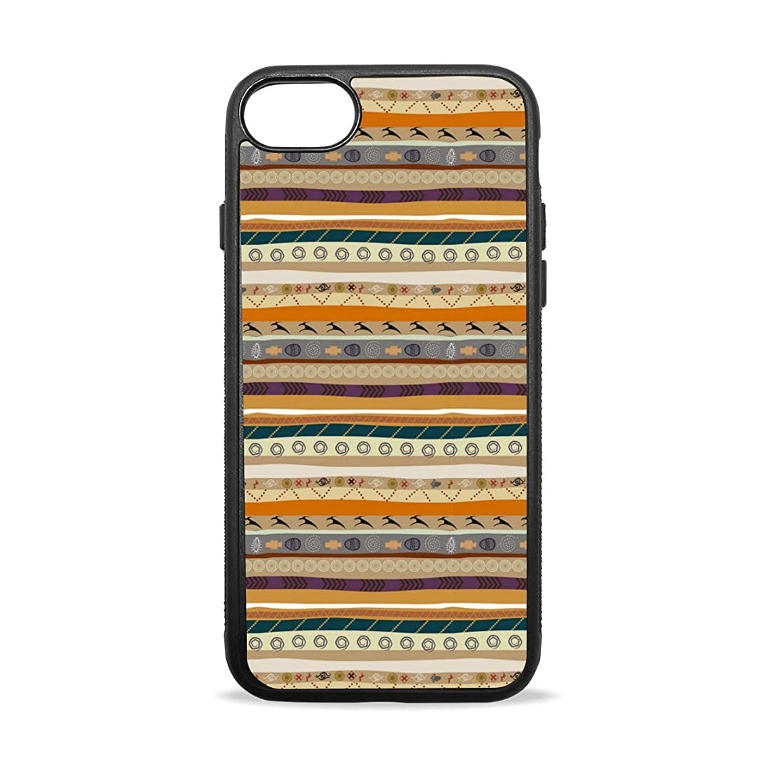 Clan Totem Striped Decoration iPhone 8/8 Plus case, iPhone 7/7 Plus Case, Slim-Fit Matte TPU Clear Bumper Flexible Rubber Silicone Rugged Thin Protective Phone Case Cover
