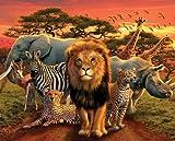 Afrika African Kingdom - Animals - Elefant Löwe Nashorn
