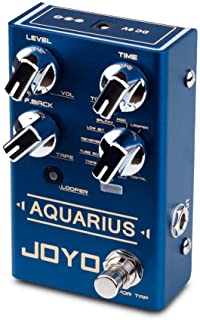 JOYO Aquarius Digital Delay Effect Pedal Multi-Mode 8 Digital Delay Effects with Looper (5 Minutes Recording Time) for Electric Guitar (R-07)
