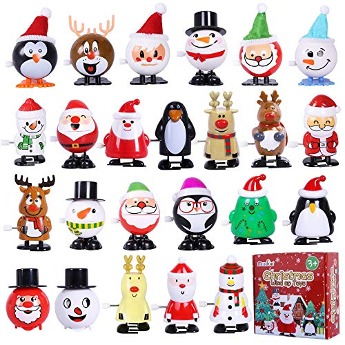 Max Fun 24 Pack Christmas Stocking Stuffers Wind Up Toys Assortment for Christmas Party Favors Goody Bag Filler
