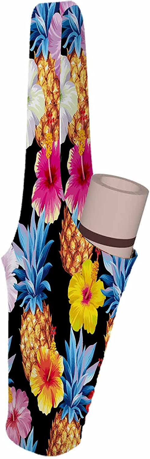 Popular Online limited product brand SSOIU Pineapples Flower Yoga Mat yellow tr hibiscus Bag colorful